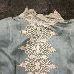 Gunne Sax Dresses - Jessica Mcclintock Vintage Dress Silk Sage Green